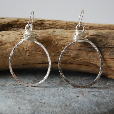 Earrings Betty's Woven Wire Circles by Lisa Gent