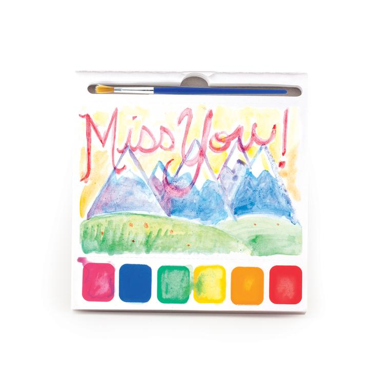 Paint Your Own Watercolor Postcard Book