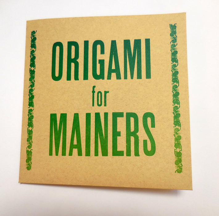 Origami for Mainers