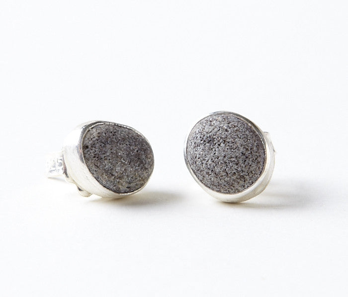 Beach Stone Stud Earrings