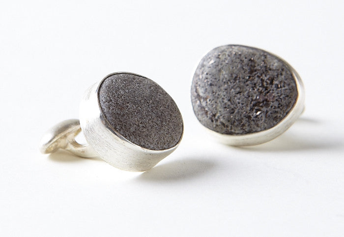 Beach Stone Cuff Links