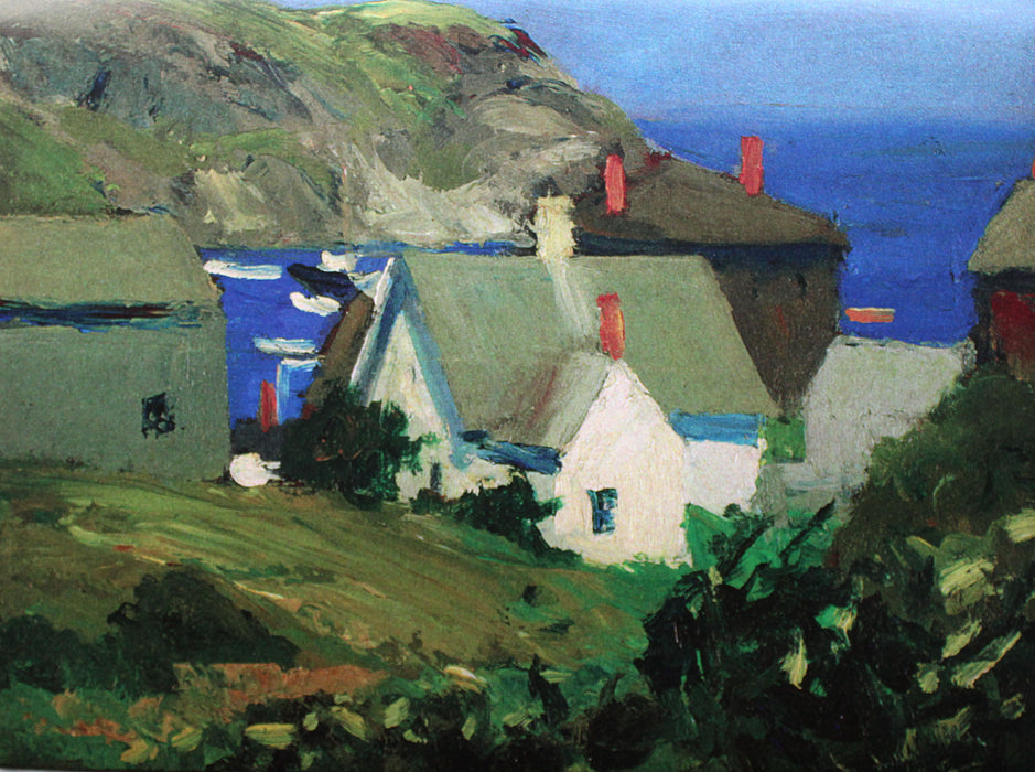 Placemat: Monhegan Houses, Maine. 1916-1919 by Edward Hopper
