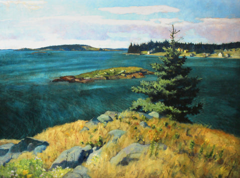 Placemat: Georges Islands, Penobscot Bay, Maine by N.C. Wyeth