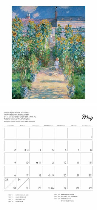 Claude Monet 2021 Mini Wall Calendar  (6½ x 7 in.)