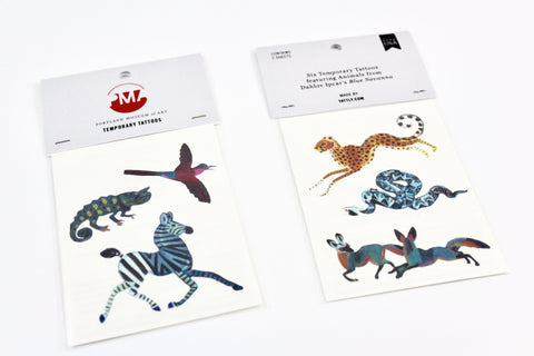 "Dahlov Ipcar ""Blue Savanna"" temporary tattoos"