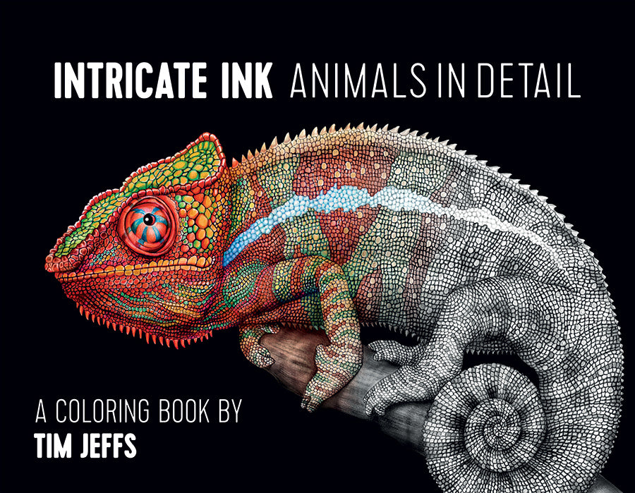 Intricate Ink: Animals in Detail Coloring Book (Iguana)