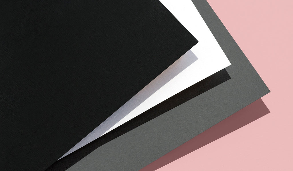 All Paper Chase Press hardcover books feature premium linen paper endsheets, which provide both durability and an elegant finish. Choose from black, gray, or white.