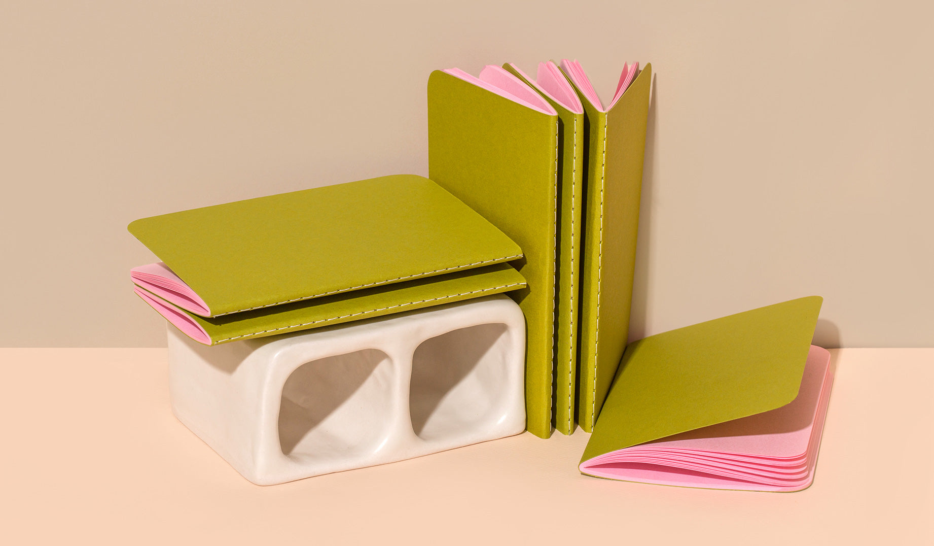 Our most portable notebook in a range of premium colored papers, featuring our signature saddle sewn binding style.