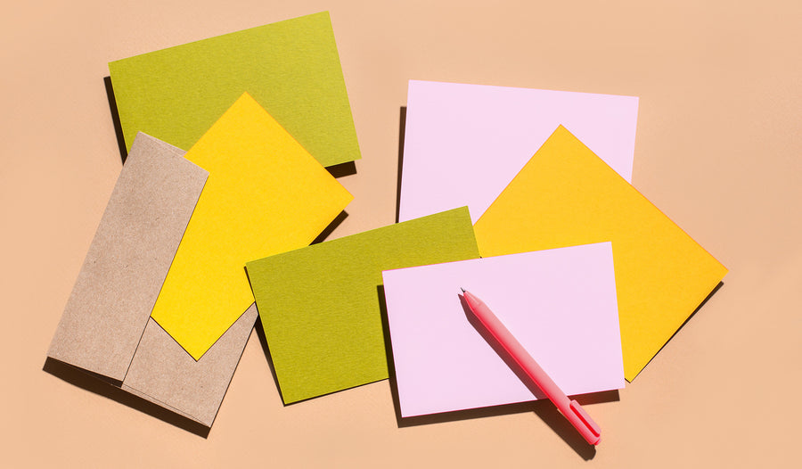 Double-thick Mohawk papers and hand painted colored edges make these cards perfect for any correspondence or occasion.