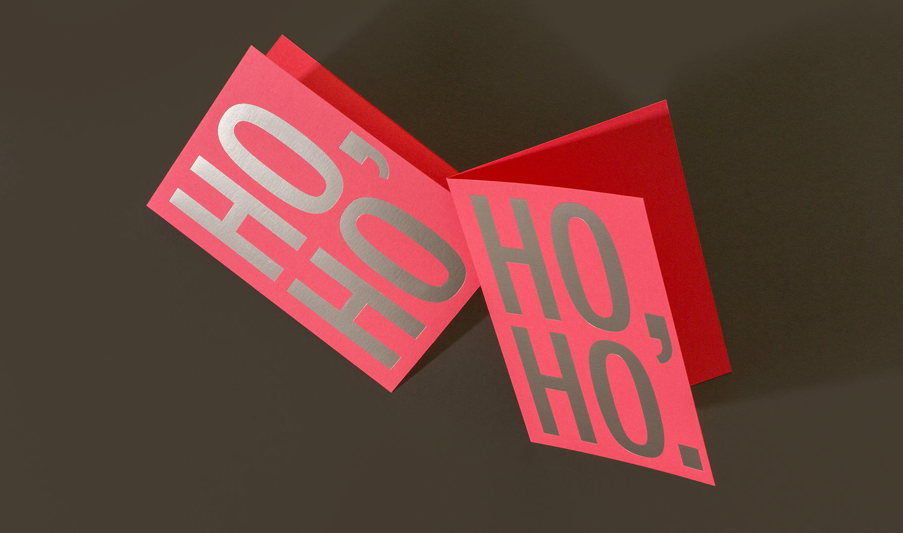 Keep it simple with our take on Santa's signature. Featuring matte silver foil on coral Mohawk paper.