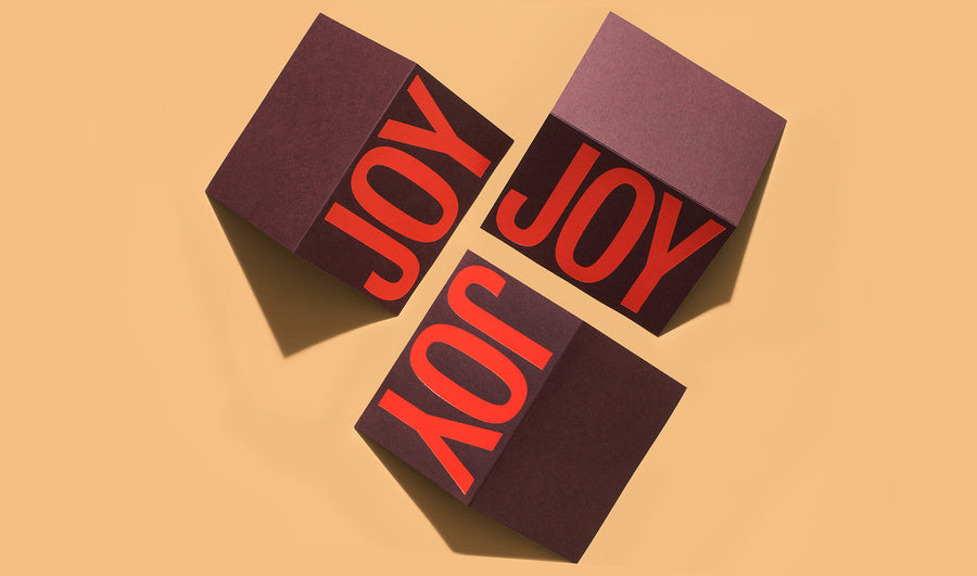 You will literally spread joy when you send these holiday cards. Featuring a orange foil on burgundy Mohawk Keaykolour paper.