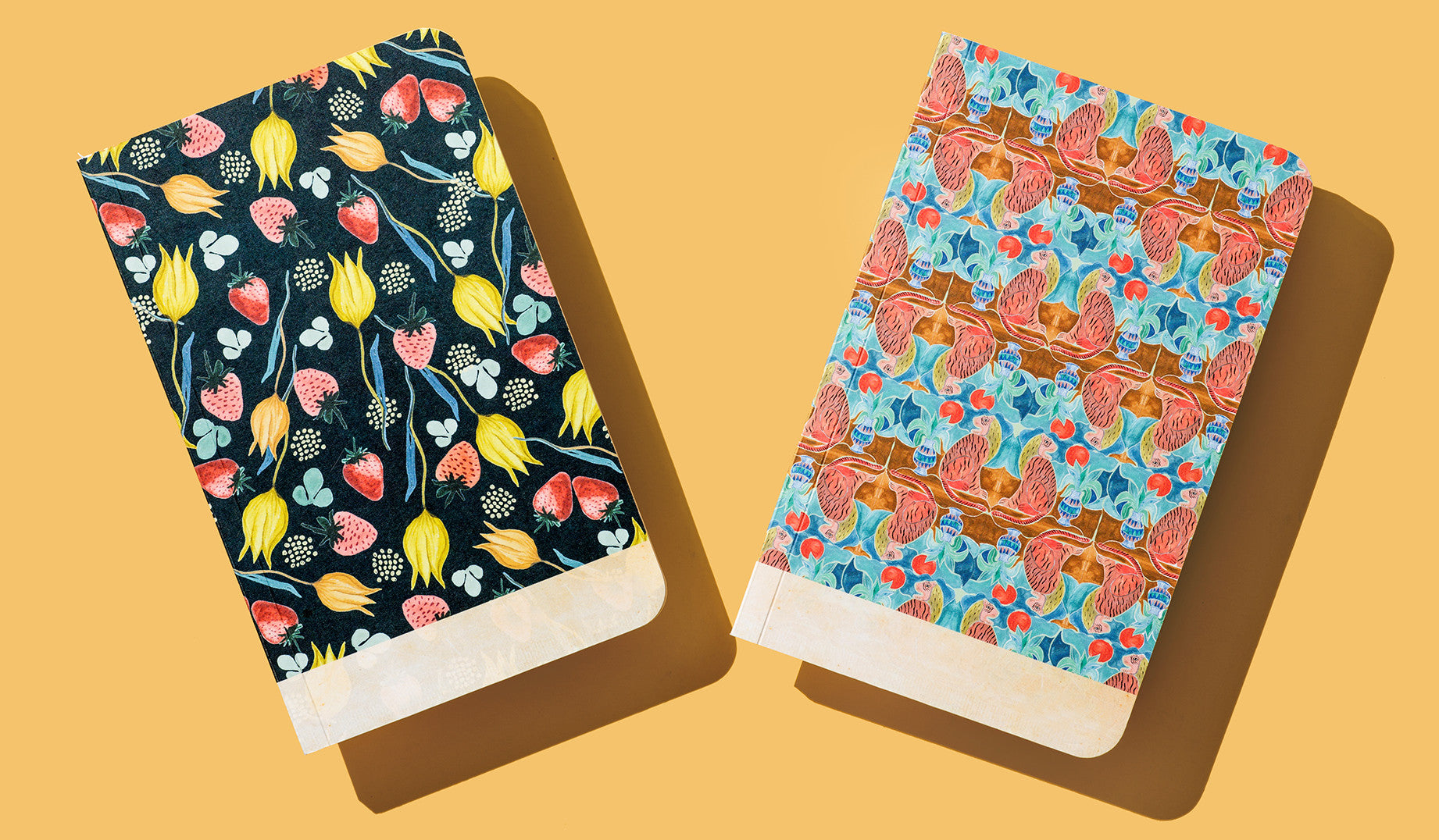 Here at Paper Chase, we love a good mix of color and pattern. So it comes as no surprise that we would be fans of designer Justina Blakeney. Her signature style has spawned a loyal following among design aficionados and just about anyone who appreciates a bohemian aesthetic. We knew her work would make for beautiful paper goods — so we teamed up with the New York Times bestselling author to create two signature notebooks, each featuring her distinct, hand-drawn patterns. Photography by Katrina Dickson