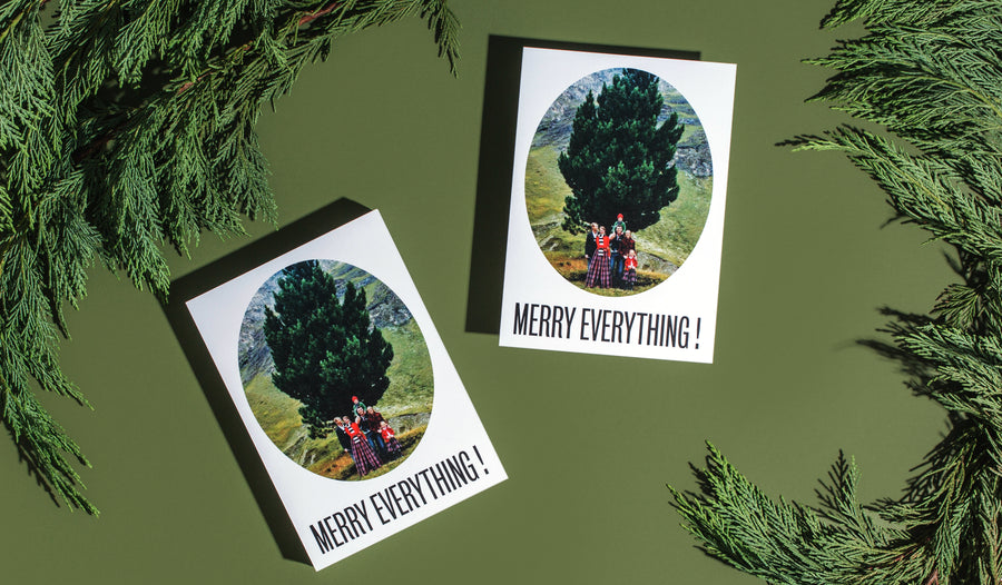 Themed Flat Card Merry Everything