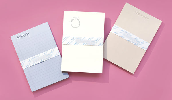 Based on the letterhead of celebrities Marlene Dietrich, Elizabeth Taylor, and Steve Mcqueen, these iconic stationery sets recall the glory days of Hollywood and letter writing. Choose your favorite and personalize the set with your own information to send a note in style. Printed on premium uncoated paper and sold in sets of fifty.