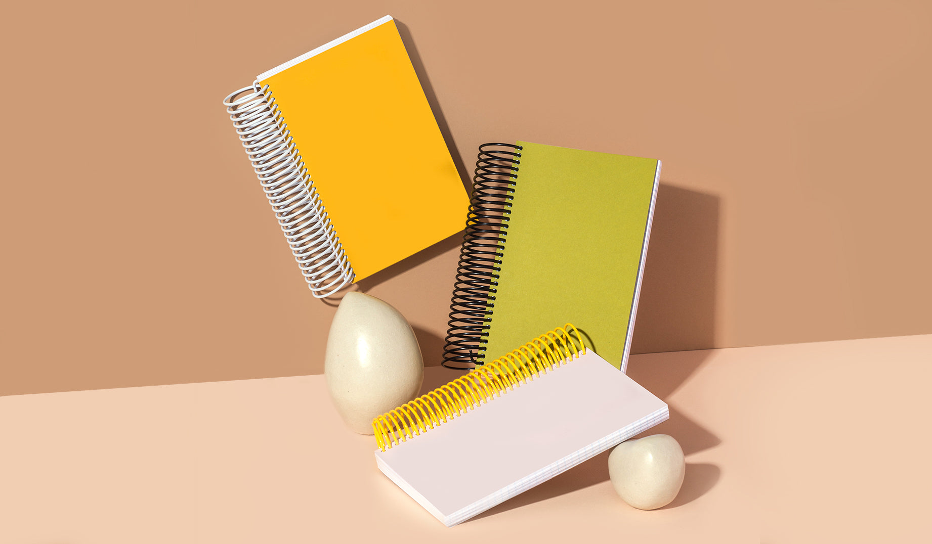 Featuring premium-grade Mohawk papers paired with a sculptural coil binding, our spiral notebooks are as functional as they are beautifully designed.