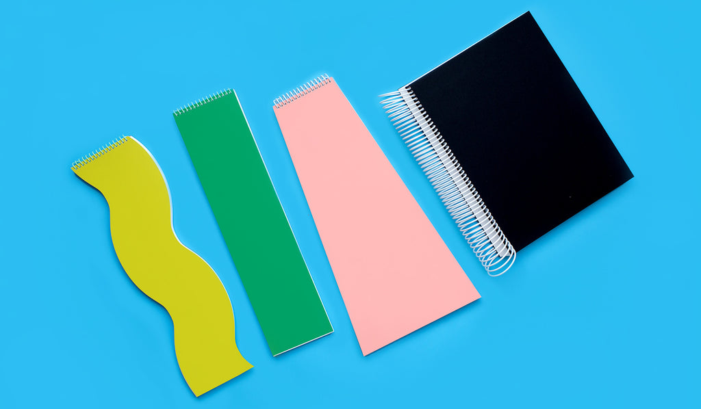 Introducing Wrong Design, Art Director Ania Diakoff's original notebook and calendar collection. Featuring oblong shapes, oversized bindings, and bright colors, each of these goods turns the traditional function of printed goods on its head. Choose from die cut notebooks with 100 blank pages, or The Weekling, a perpetual weekly calendar.