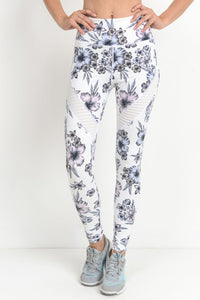 Highwaist Hibiscus Moto Leggings
