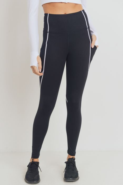 Highwaist Leggings with Contrast Seams