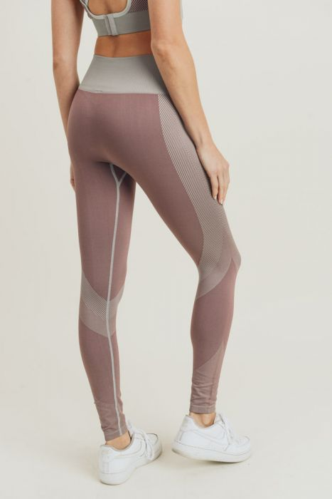 Chevron Track Seamless Highwaist Leggings