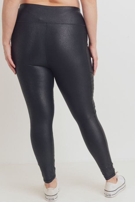 PLUS Highwaist Ribbed Knee Leggings