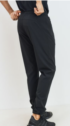 Men Cinched Ankle Active Joggers