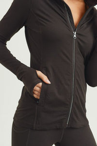 Mesh Panel Sleeve Hybrid Active Jacket Coffee