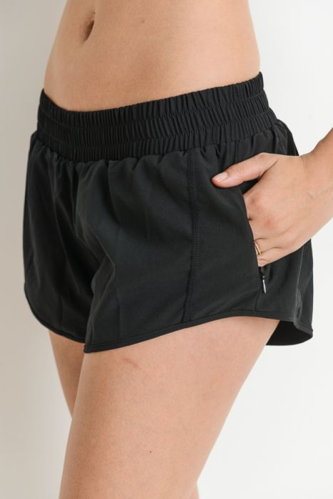 Gathered Elastic Band Dolphin Short Shorts