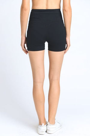 Medium Length High Waist Pocket Shorts