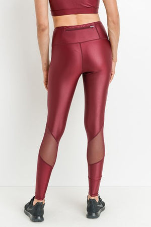 Shiny Highwaist Mesh Leggings