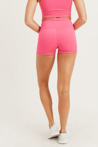 GREEN Highwaist Short Shorts (HOT PINK)