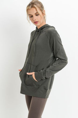 Triangle Cutout Back Hoodie Sweatshirt
