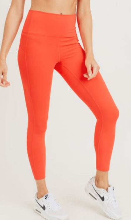Laser-Cut and Bonded Essential Foldover Highwaist Leggings