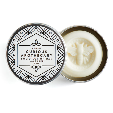 Vegan Lavender Essential oil Lotion bar by Curious Apothecary