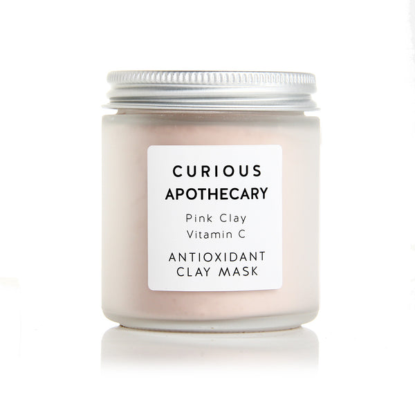 Pink Clay Vitamin C Face Mask by Curious Apothecary. Antioxidant skincare