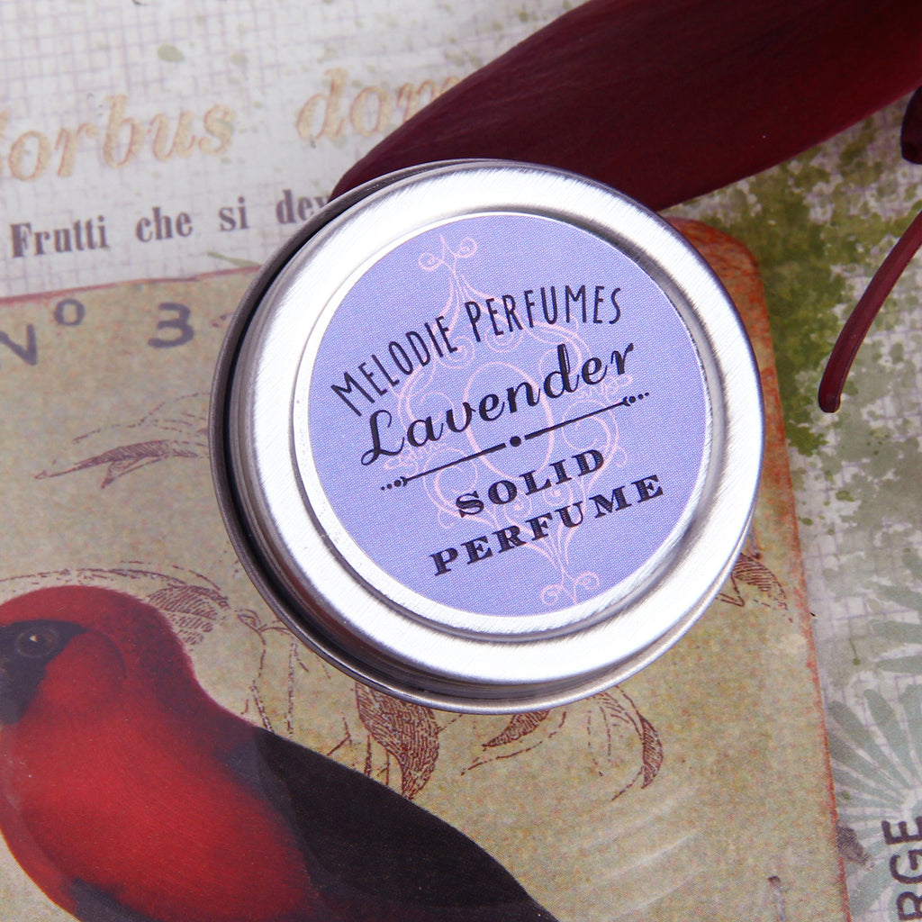 Lavender solid perfume by MelodiePerfumes. Vegan. Essential Oil