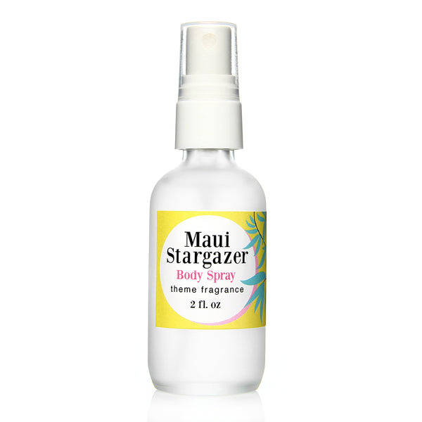 Maui Stargazer body spray. White Gardenia floral by Theme Fragrance