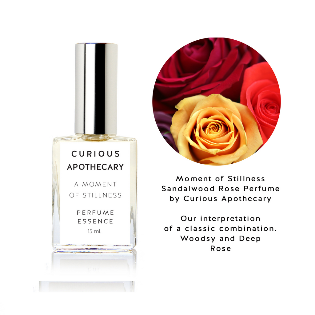 Moment of Stillness perfume. Sandalwood Rose Woods by Curious Apothecary - theme-fragrance