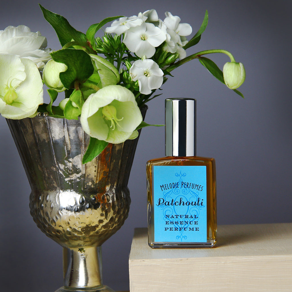 Patchouli perfume spray. Melodieperfumes. Natural perfume spray made with essential oils