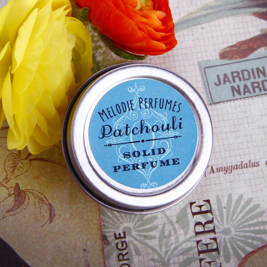 Patchouli solid perfume by MelodiePerfumes. Vegan. Essential Oil