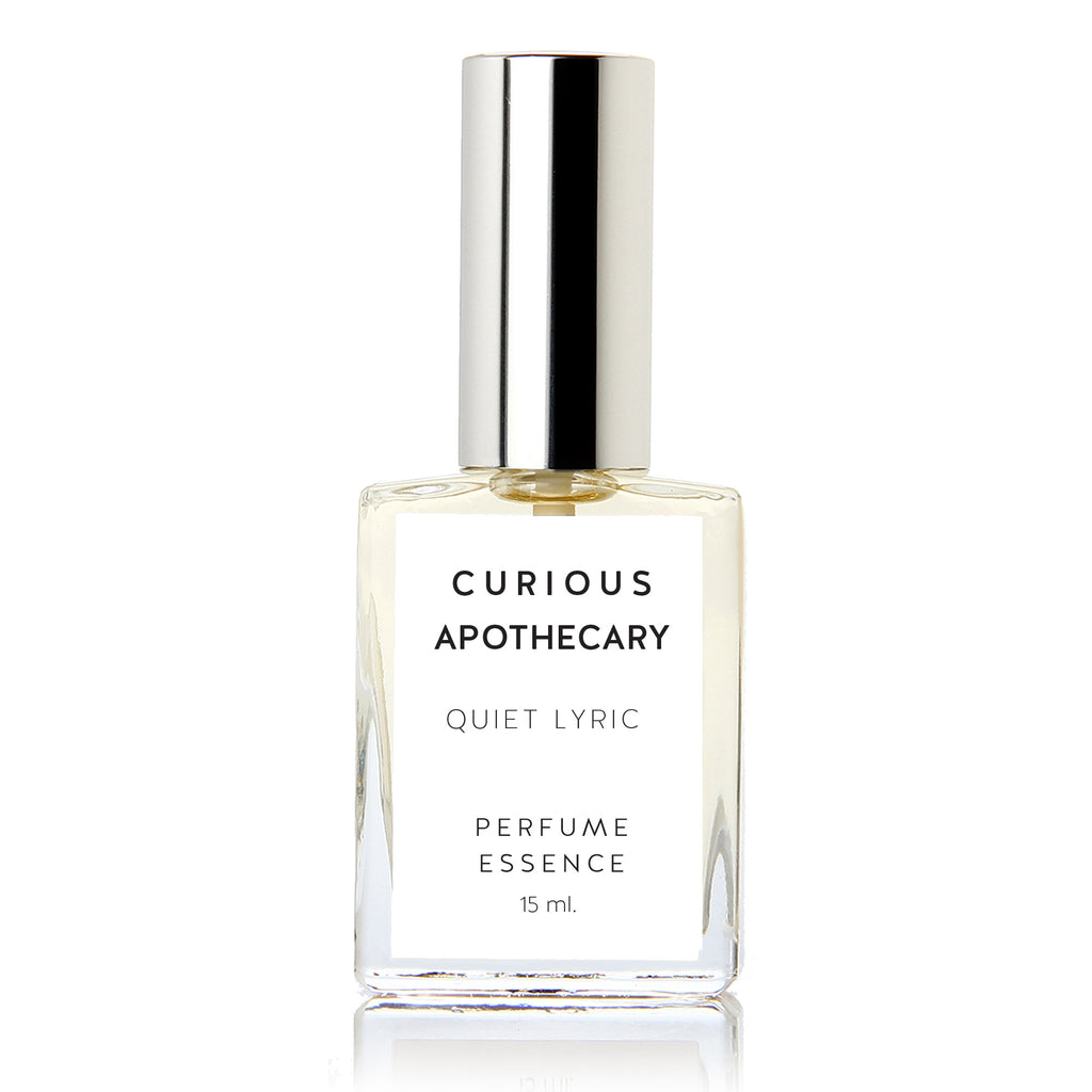 Quiet Lyric perfume. Lyrical fresh floral lime by Curious Apothecary
