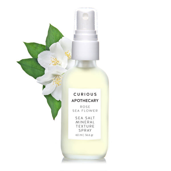 Curious Apothecary Sea Flower Sea Salt Mineral Texture Spray for Hair. Rose, Lavender, Citron.