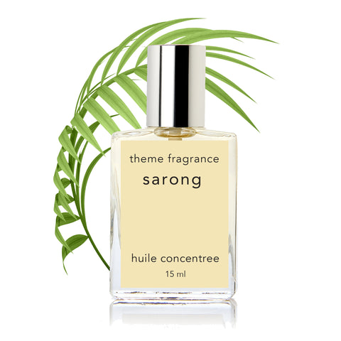 Sarong ™ 15 ml perfume oil. Tropical Vanilla coconut. Best coconut fragrance - theme-fragrance