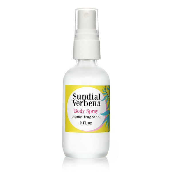 Sundial Verbena body spray. Sunny lemon verbena by Theme Fragrance