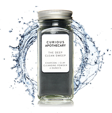 Curious Apothecary The Deep Clean Sweep Charcoal Face Cleansing Powder