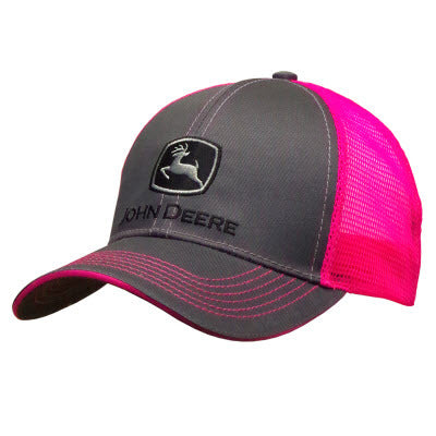 Charcoal w/ Pink Mesh Hat