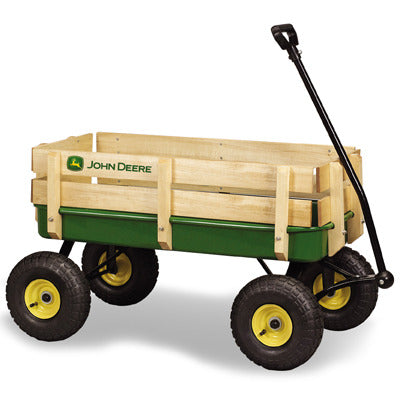 Green Stake Wagon
