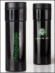 funky elder travel mug, travel mug, traveler, hot travel mug, stainless steel travel mug