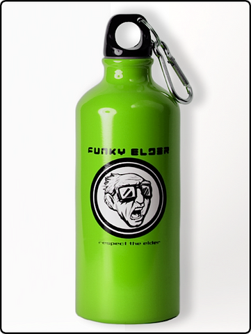 water bottle, funky elder water bottle, 20 oz. water bottle, lime green water bottle, bpa free water bottle, designer water bottle, cool water bottle, funny water bottle, cold