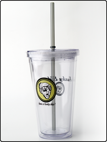 funky elder tumbler, tumbler, cold tumbler, straw cup, acrylic cup, have a funky day tumbler, have a funky dat straw cup