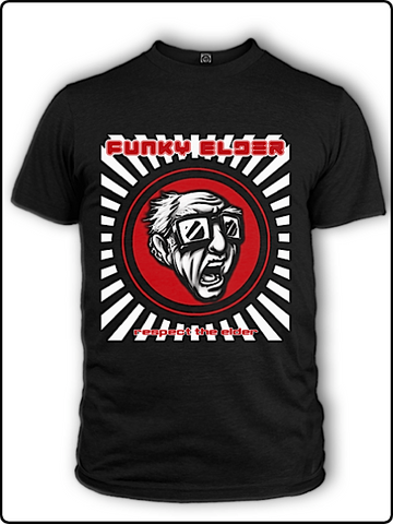 t shirt, designer t shirt, screamer t shirt, elder t shirt, cool t shirt, funny t shirt, funky elder t shirt, sunburst screamer tee